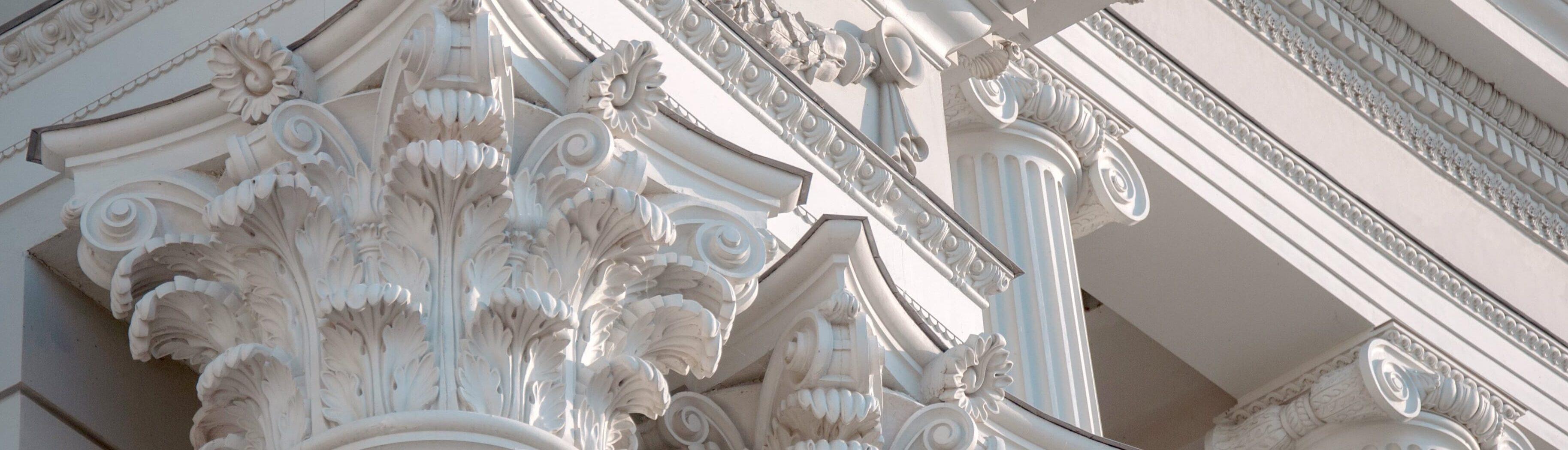 Декор из пенопласта на фасадах